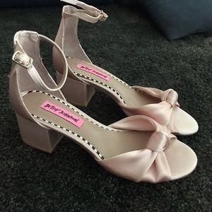 Pink satin betsey Johnson sandals